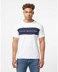 Tommy Hilfiger Logo Print Cotton Pyjama Top - White