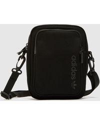 adidas Originals Tonal Logo Cross Body Bag - Black