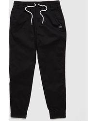 Champion Rochester Wash Twill Track Pants - Black