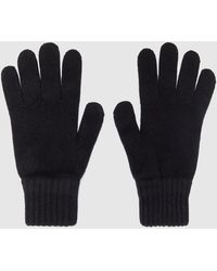 Barbour Wool Gloves - Black