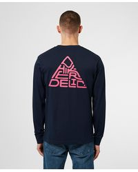 Hikerdelic Mountain Logo Long Sleeve T-shirt - Blue