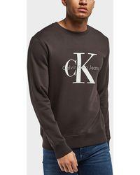Calvin Klein - Large Icon Logo Crew Sweatshirt - Lyst