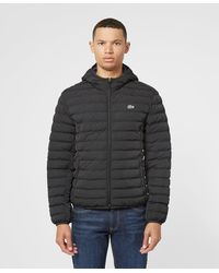 Lacoste Padded Hooded Jacket - Black