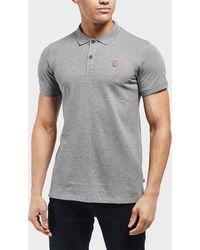 Fjallraven Ovik Short Sleeve Polo Shirt - Grey
