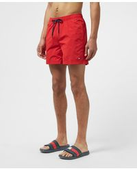 Tommy Hilfiger Small Flag Swim Shorts - Red