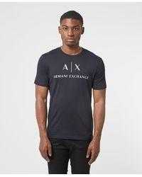 Armani Exchange Core Logo Short Sleeve T-shirt - Blue