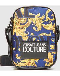 Versace Jeans Baroque Cross Body Bag - Blue