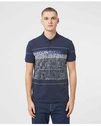BOSS by Hugo Boss - Paddy Text Print Polo Shirt - Lyst