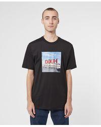 HUGO Box Sign Short Sleeve T-shirt - Black