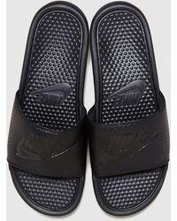 Nike Benassi Slides - Black