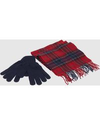 Barbour Scarf & Gloves Gift Set - Multicolour