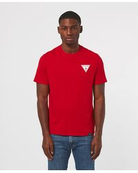 Guess City Back Print Short Sleeve T-shirt - Red