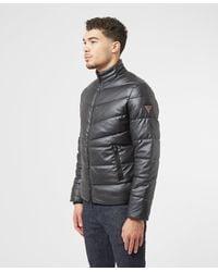 Guess Eco Leather Baffle Jacket - Grey