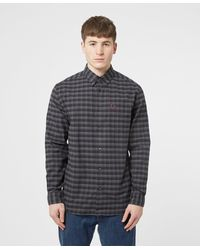 Fred Perry Winter Tartan Long Sleeve Shirt - Grey