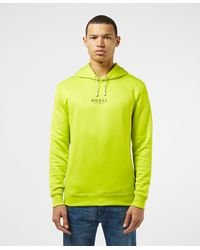 Guess Central Logo Overhead Hoodie - Yellow