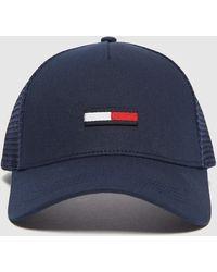Tommy Hilfiger Flag Trucker Cap - Blue