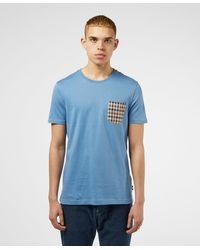 Aquascutum - Club Check Pocket Short Sleeve T-shirt - Lyst