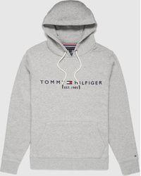 Tommy Hilfiger Logo Overhead Hoodie Grey/grey