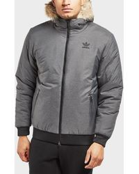 Adidas Originals | Trefoil Fur Padded Parka | Lyst