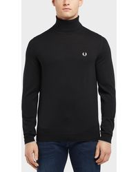 Fred Perry - Merino Roll Neck Jumper - Lyst