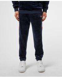 Fila Velour Track Trousers - Blue