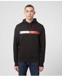 Tommy Hilfiger Logo Overhead Hoodie - Black