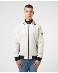 Guess Sporty Faux Leather Hooded Bomber Jacket - Multicolour