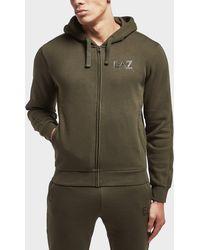 EA7 - Core Full Zip Hoodie - Lyst