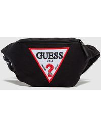 Guess Tri Logo Bum Bag - Black
