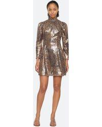 Sea Leo Sequin Dress - Metallic
