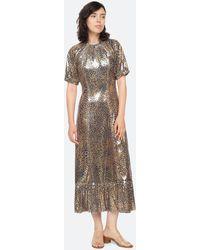 Sea Leo Sequin Midi Dress - Metallic