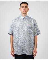 Our Legacy - Borrowed Short Sleeve Paisley Shirt - Lyst
