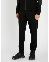 Prada - Shell-trimmed Wool Jogging Bottoms - Lyst