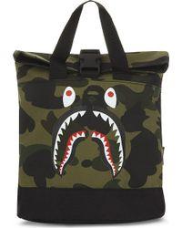 A Bathing Ape - Camo Shark Backpack - Lyst