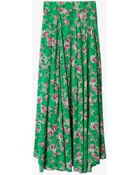 Zadig & Voltaire Joyo Floral-print Woven Maxi Skirt - Green