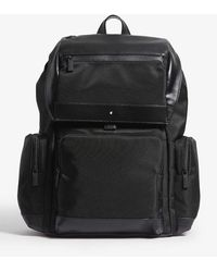 Montblanc Nightflight Large Canvas And Leather - Black