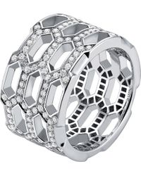 BVLGARI | Serpenti Seduttori 18kt White-gold And Diamond Ring | Lyst