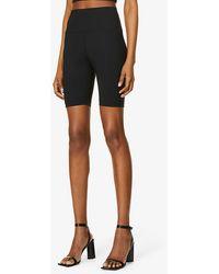 WARDROBE.NYC High-waisted Stretch-jersey Shorts - Black