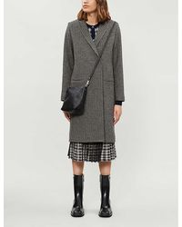 Won Hundred Catelyn Checked Wool-blend Coat - Gray