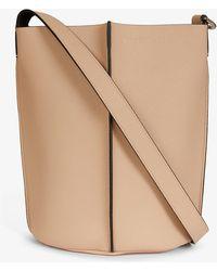 Acne Studios Market Logo-embossed Leather Bucket Bag - Multicolour