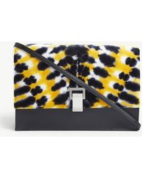 Proenza Schouler - Tie-dye Velvet And Leather Small Cross-body Bag - Lyst
