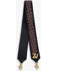 Zadig & Voltaire Zv Monogram Leather And Canvas Bag Strap - Multicolour