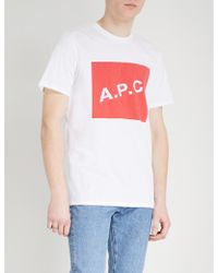 A.P.C. - Kraft Cotton-jersey T-shirt - Lyst