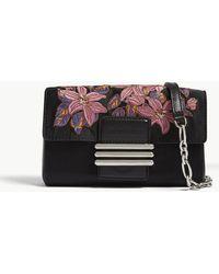 Etro - Black Floral Silk Clutch Bag - Lyst