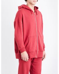 Les Girls, Les Boys Mini Logo Zip-up Stretch-cotton Hoody - Red