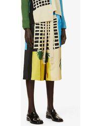 Loewe X Ken Price La Series-print High-rise Silk Shorts - Multicolour