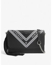 Calvin Klein Wing Leather Wallet-on-chain - Black