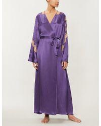 Nk Imode Soraya Silk-satin Robe - Purple