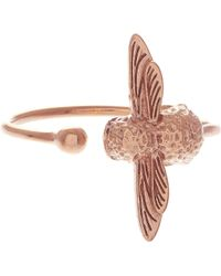 Olivia Burton - Bee 18ct Rose Gold Plated Sterling Silver Ring - Lyst
