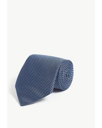 Pal Zileri Geometric Circle Pattern Silk Tie - Blue